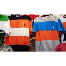 Kit C/ 10 Camisetas Camisa Com Listras Varias Marcas Atacado