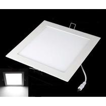 Kit 5 Painel Plafon Luminaria Led Quadrado Embutir Slim 6w