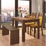 Sala De Jantar Mesa E 2 Cadeiras E 1 Banco Madesa Mara