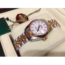 Rolex Datejust Acero Oro Diamantes 179173 Estuche Los Nuevo