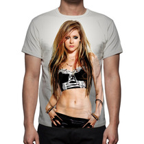 Camisa, Camiseta Avril Lavigne - Estampa Total