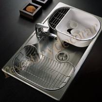 Pileta De Cocina-johnson-modelo Luxor S185 Sta-(85,5x48x21)