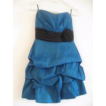 Vestido Azul Y Negro Formal De Fiesta Corto Para Niñas 13-16