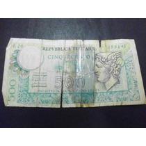 Italia Billete 500 Liras Fecha 1976