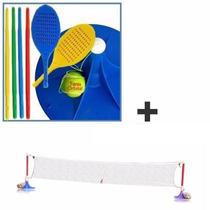 Juego De Tenis Orbital Serabot + Futbol Tenis Red Y Postes