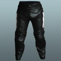Pantalon Moto Cuero Proskin Racing Con Protecciones
