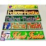 Banners Felices Fiestas (x1) Ideal Vidrieras Y Comercios!