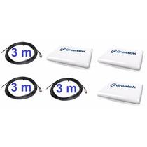 Kit Com 3 Antd2415 Antenas 2.4ghz 15dbi Greatek + 3 Cabos 3m