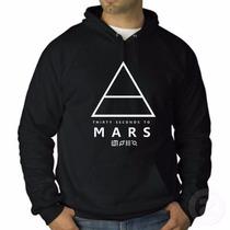 Blusa 30 Seconds To Mars - 2014 !!! Moletom Canguru