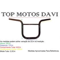 Guidão Moto Motoboy Titan 150 Preto S/ Fixa Peso - 3718