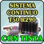Sistema Continuo Para Epson T50 R290 Con Tintas