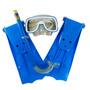 Kit Mergulho Infantil 3 Peças Mascara Snorkel Nadadeira X809