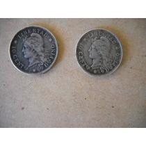 Monedas De Plata 10 Centavos 1882 Y1883 De Argentina
