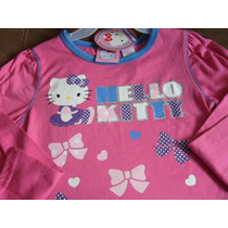 Bellisima Blusa M Larga Niña Hello Kitty T-6x Original
