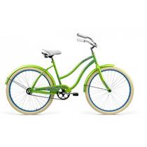 Bicicleta Rodada 26 Mercurio Crusier Dama Green 2017