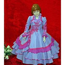 Vestido Prenda Gaúcha Tam. 4-6-8 C/ Saia De Armação Marilei