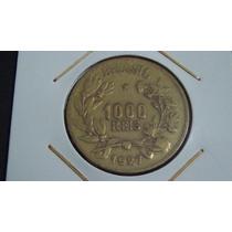 V#130 - Numismática Moeda 1.000 Rs. 1927 República Brasil