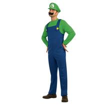 Disfraz Nuevo Talla Xxl Luigi Mario Bros Hombre Super Mario