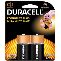 Pilha Alcalina Duracell Duralock C C/2 Unidades