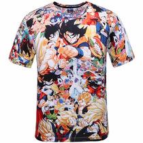 Playera Dragon Ball Z Goku Vegeta Gohan Sayayin Impresion 3d