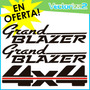 Kit Completo Calcomanias Grand Blazer Diseño Original