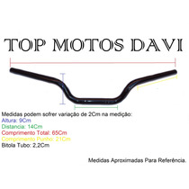 Guidão Moto Honda Cb 500 Preto C/ Fixa Peso ../03