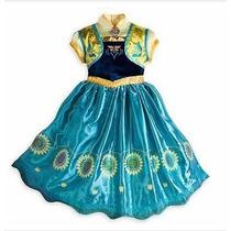 Vestido Fantasia Infatil Frozen 2 Fever Elsa Ana Princesa