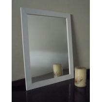 Espejo Con Marco De Madera 48x68cm / Living Baño Comedor