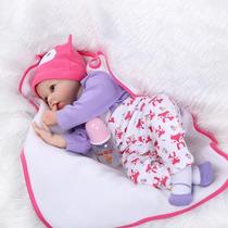 Bebe Reborn Silicone 55 Cm Menina Perfeita