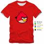 Camiseta Infantil Angry Birds Camisa 100% Algodão