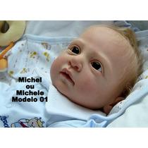 Boneca Bebê Reborn Michele - Michel Recém Nascido Quase Real