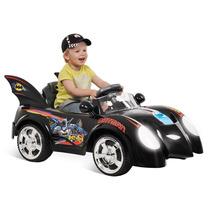 Carro Elétrico Infantil Carrinho Criança Frente Ré Batman