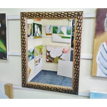 Espelho Grande 90x65cm C/ Moldura - Frete Gratis