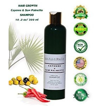 Pelo Crecimiento Cayenne Y Saw Palmetto Botánico Sls-libre S