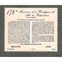 Estampilla 175 Aniv Acta De Independencia 1988