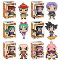 Funko Pop Set 6 Dragon Ball Bulma Gohan Krillin Majin Goku