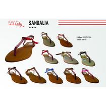 Sandalias Con Pedrería Fina Para Chicas