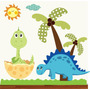 Adesivo Infantil Dinossauro Zoo Safari Decorativo Bebe Galho