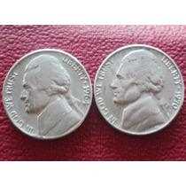Eeuu Dos Moneda 5 Cent Dollar Año 1964/70