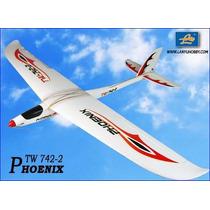 Planador Phoenix 742-2 4 Canais Com 1,38m Enverg. Completo