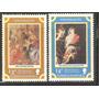 1977 Arte Religioso Pinturas Rubens Madonas Navidad 2 Sellos