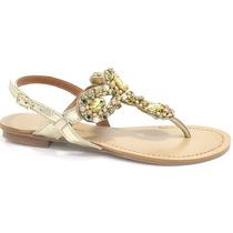 Sandália Zariff Shoes Rasteira Pedras   Zariff