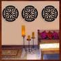 Trio Quadros Mandalas Mdf Escultura De Parede Vazada - 30 Cm