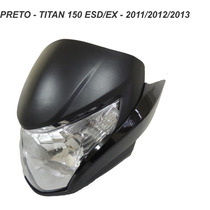Carenagem Frontal+farol+laterais Titan 150 - Preto 2011 A 13