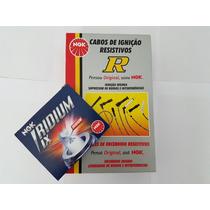 Jogo 4 Vela Iridium + Cabo Ngk Bkr7eix Fox Gol Voy G5 G6 1.0