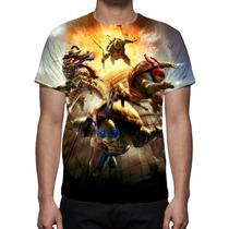 Camisa, Camiseta As Tartarugas Ninja 2014 - Estampa Total