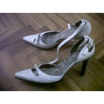 Zapatos Nine West 37, Cuero Blanco Invierno