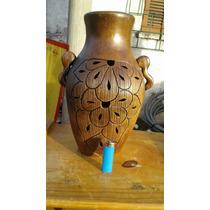 Jarron De Ceramica Tallado A Mano
