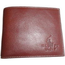 Billetera Hombre De Polo Ralph Lauren Bifold Wallet Brown C