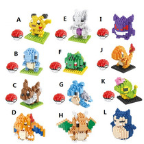 Mini Lego Do Pokemon Pikachu 21 Modelos - Kit 1 Pcs